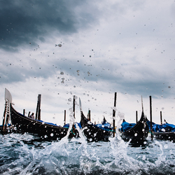 Storm in Venetië