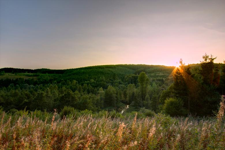 Ardennen2 - Strainchamps Ardennen zonsondergang