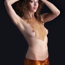 Juliya with golden necklace