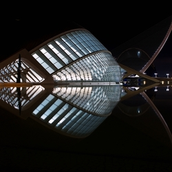 L'Hemisfèric in Valencia by night