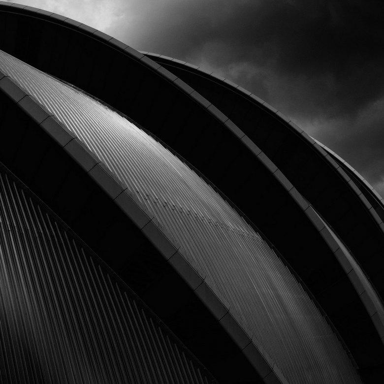 armadillo in Glasgow - Op een bewolkte dag in Glasgow center het Clyde Auditorium gefotografeerd.