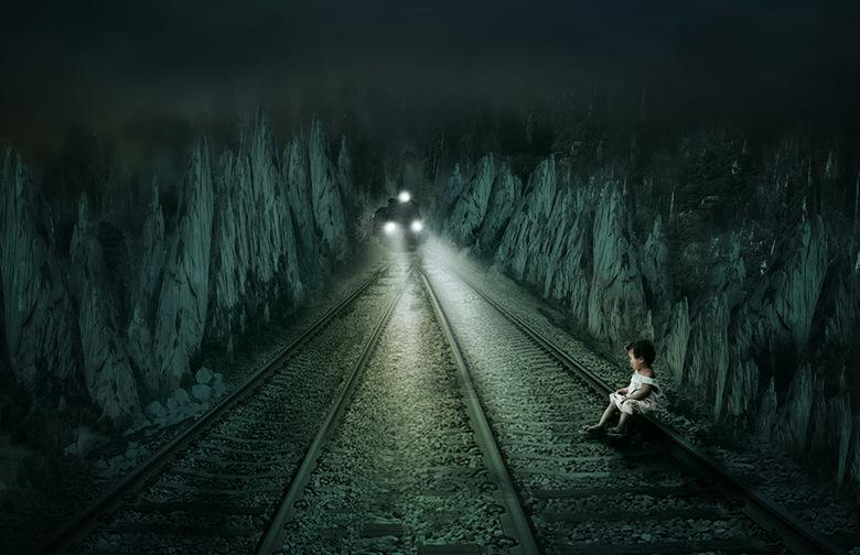 dangerous - het is te hopen dat de trein het linker spoor neemt