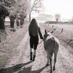 walking away....