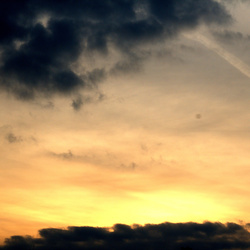 Oranje lucht