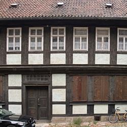 Oude vakwerkhuizen in Quedlinburg, foto 3.