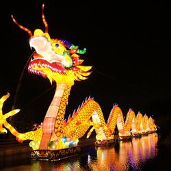 Chinese lichtshow draak