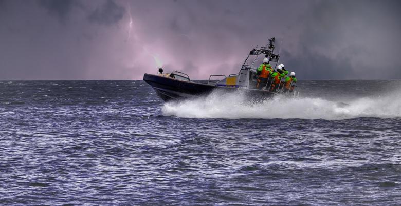 Reddingsboot - Reddingsboot op het Ijselmeer