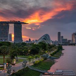 Sunset view Singapore