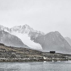 terug in de tijd in Spitsbergen