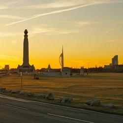Southsea UK zonsondergang