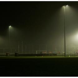 Voetbal in de mist