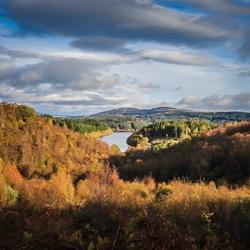 Uitzicht op Loch Katrine Schotland