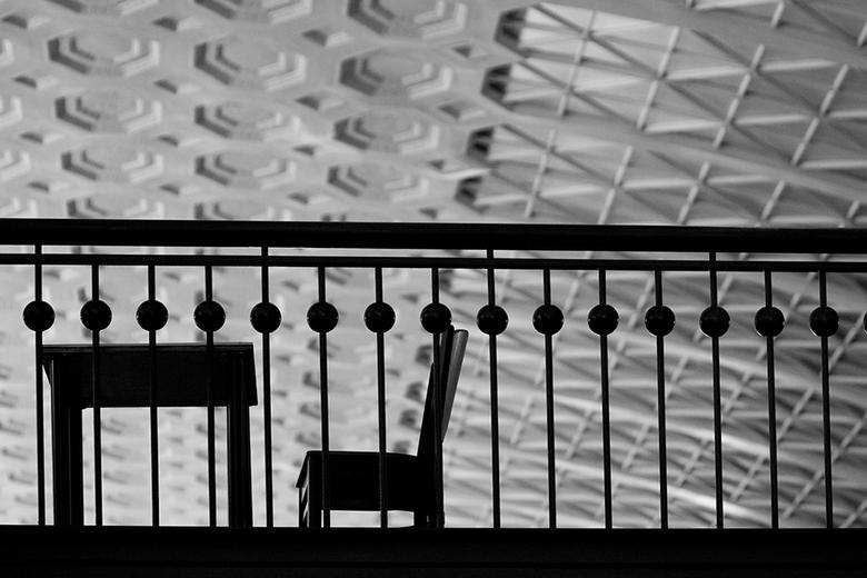 table and chair silhouet - Union Station Washington DC