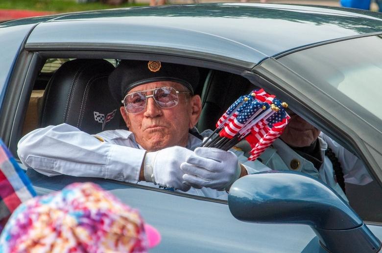 4th of July - Een veteraan tijdens de 'fourth of July' in Amerika
