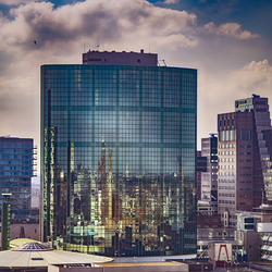 Futuristic view of Rotterdam