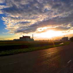 industriele zonsondergang