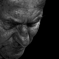 old man with tear
