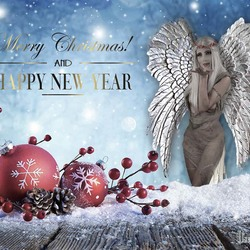 I want to wish you all >>>  Merry Christmas and a Happy and Healthy New Year :-) !!!  A #selfportrait with wings to fly to #anotherchapter :D >>> 2019 !!!  Model, photography and editing by Ilse Peters / myself