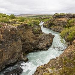 de Hvítá (Witte rivier) op IJsland
