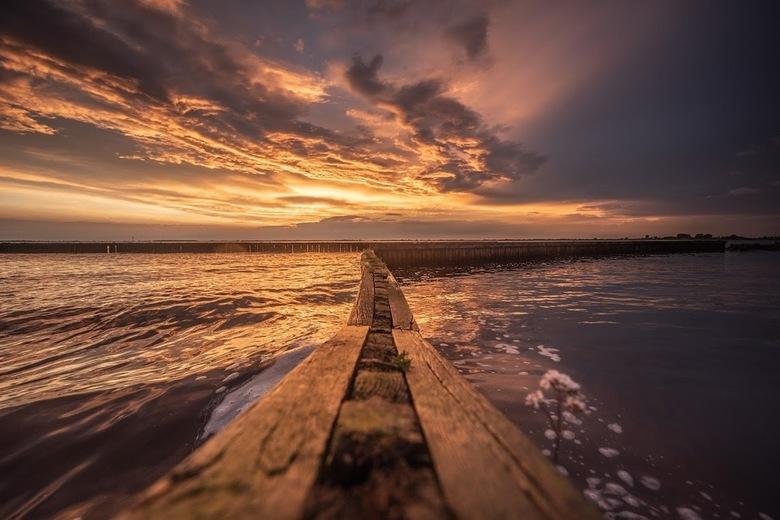 Sunset Tjeukemeer  - Zonsondergang Tjeukemeer