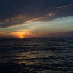 zonsondergang vanaf het cruiseschip