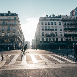Een koude zonnige middag in Parijs