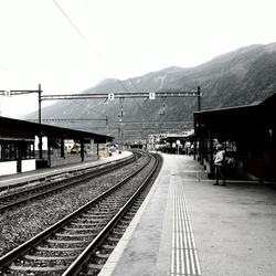 Station Disentis, Zwitserland