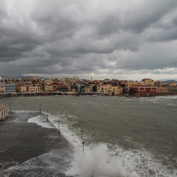 storm in Chania