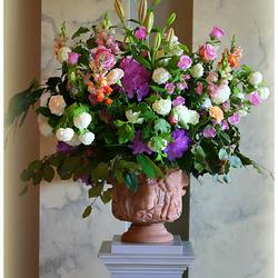 Bloemen voor Jenny en Tinus.