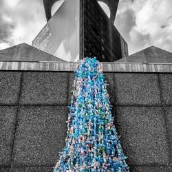 Plastic-flessen-val