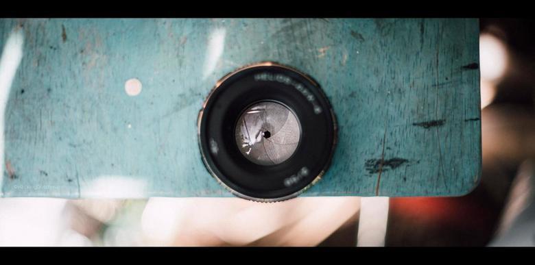 Vintage - Diafragma van Helios 44M-4.<br /> <br /> <br /> ©MotionMan 2020