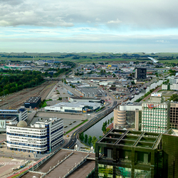 Uitzicht vanuit de Achmeatoren in Leeuwarden