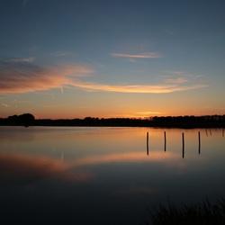 Lake evening sunset