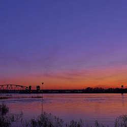 Oude IJsselbrug sunset