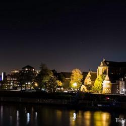 Maastricht bij nacht.