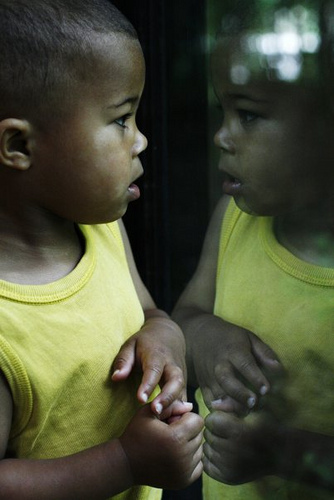 Man in the mirror -