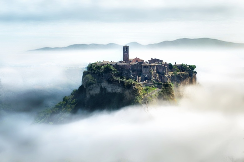 Misty Bagnoregio - This is a capture of one of the most tourist place in Bolsena's area. I played with the dark and lights in the wood to provide