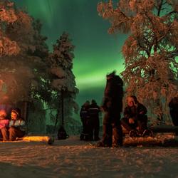 Noorderlicht bij het kampvuur