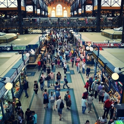 De grootste markthal van budapest