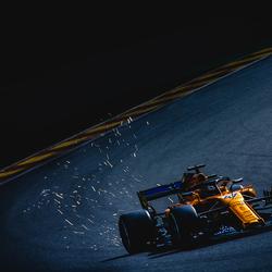 Lando Norris tijdens de formule 1 grand prix van België