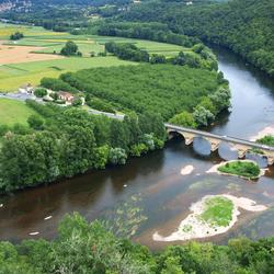 Uitzicht over de Dordogne