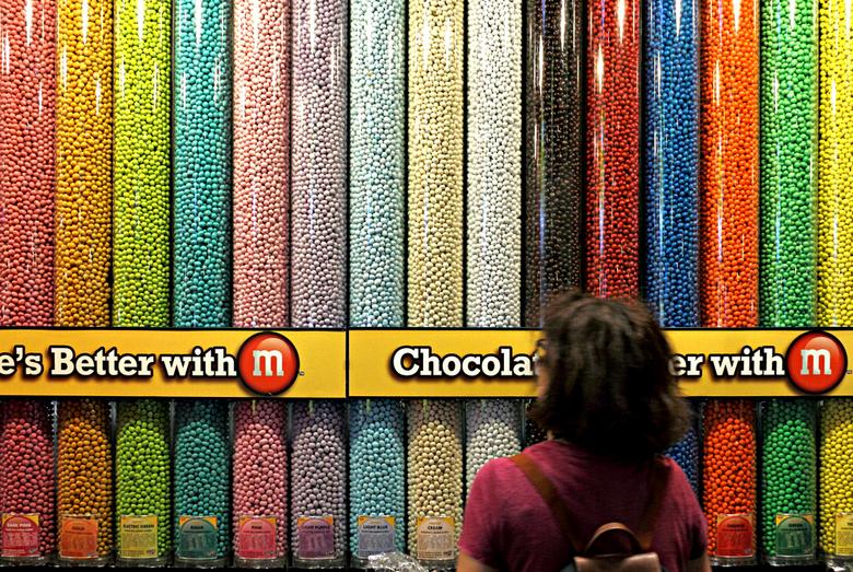 New York 70 - Moeilijk kiezen en de  M&amp;M Store.<br /> Times Square.<br /> <br /> Iedereen weer bedankt voor de reacties.<br />