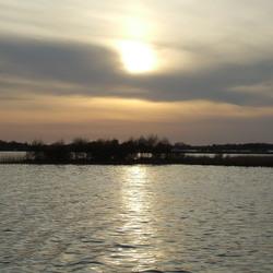 zonsondergang in de weerribben