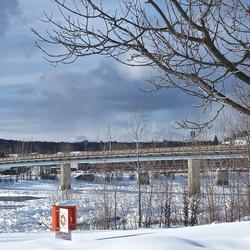 Bridge at Fraser River, Quesnel, BC