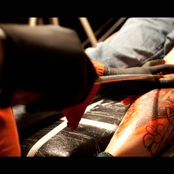 Traditional Tebori Tattoo Session