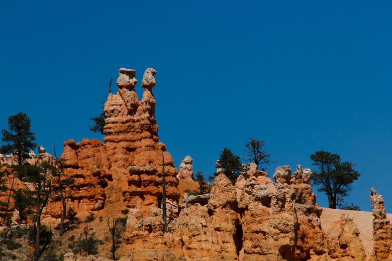 Bryce canyon - Man &amp; vrouw - Deze man en vrouw staan op de uitkijk in Bryce Canyon. <br /> Of ben ik de enige die dit ziet?