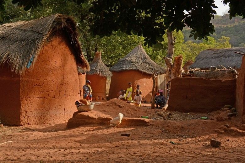 De aardekleur van Burkina Faso