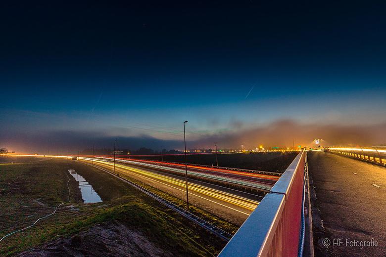 Highway at night -