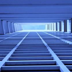 via blauwe trap naar lucht