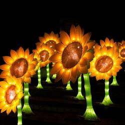 Zonnebloemen voor Van Gogh. (Glow)